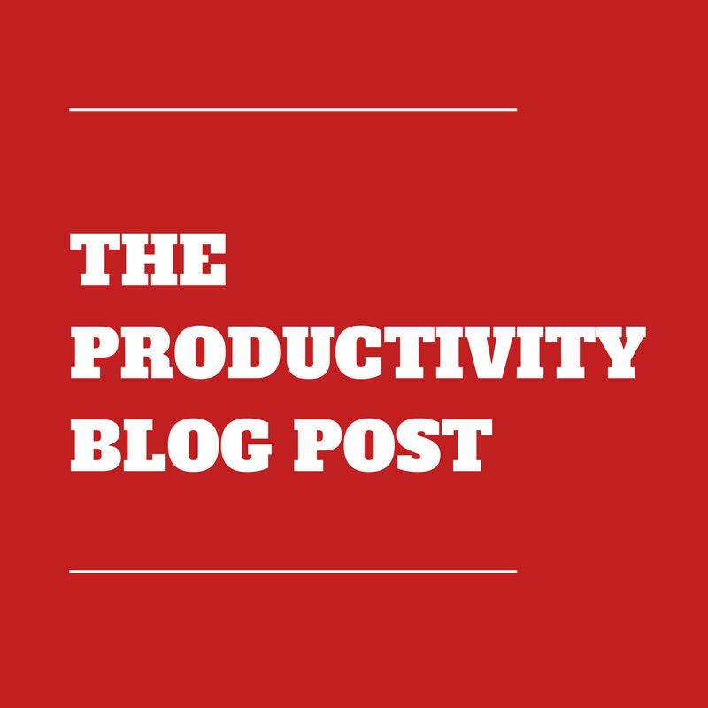 Dan Meredith Productivity Blog Post
