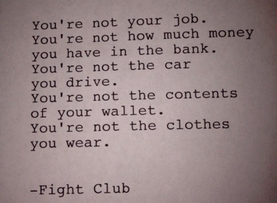 Who Are You Fightclub Quote