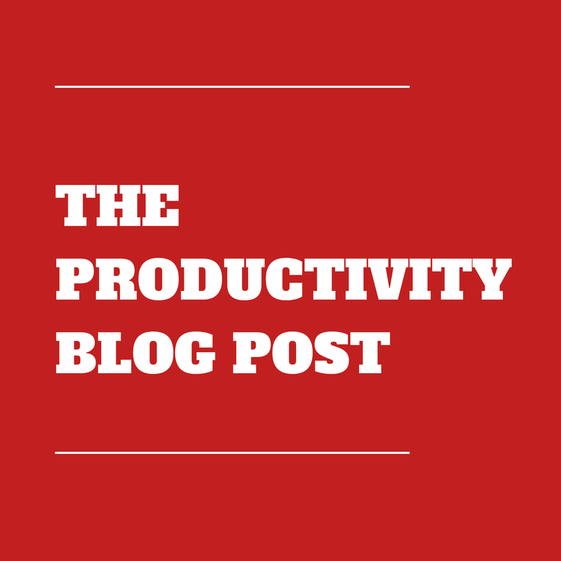 Dan Meredith Productivity Blog Post