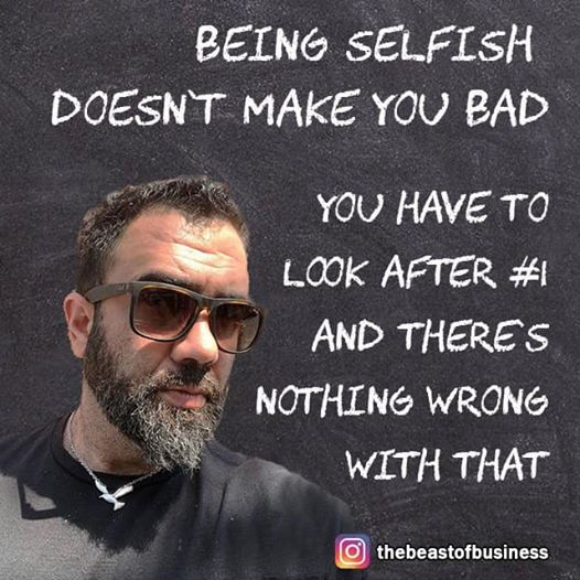 Being Selfish Doesn't Make You Bad